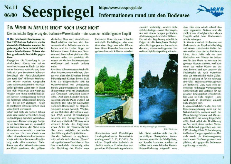 Ausgabe Nr. 11 - Juni 2000