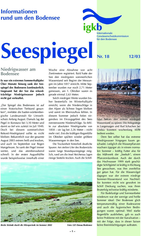 Ausgabe Nr. 18 - Dezember 2003