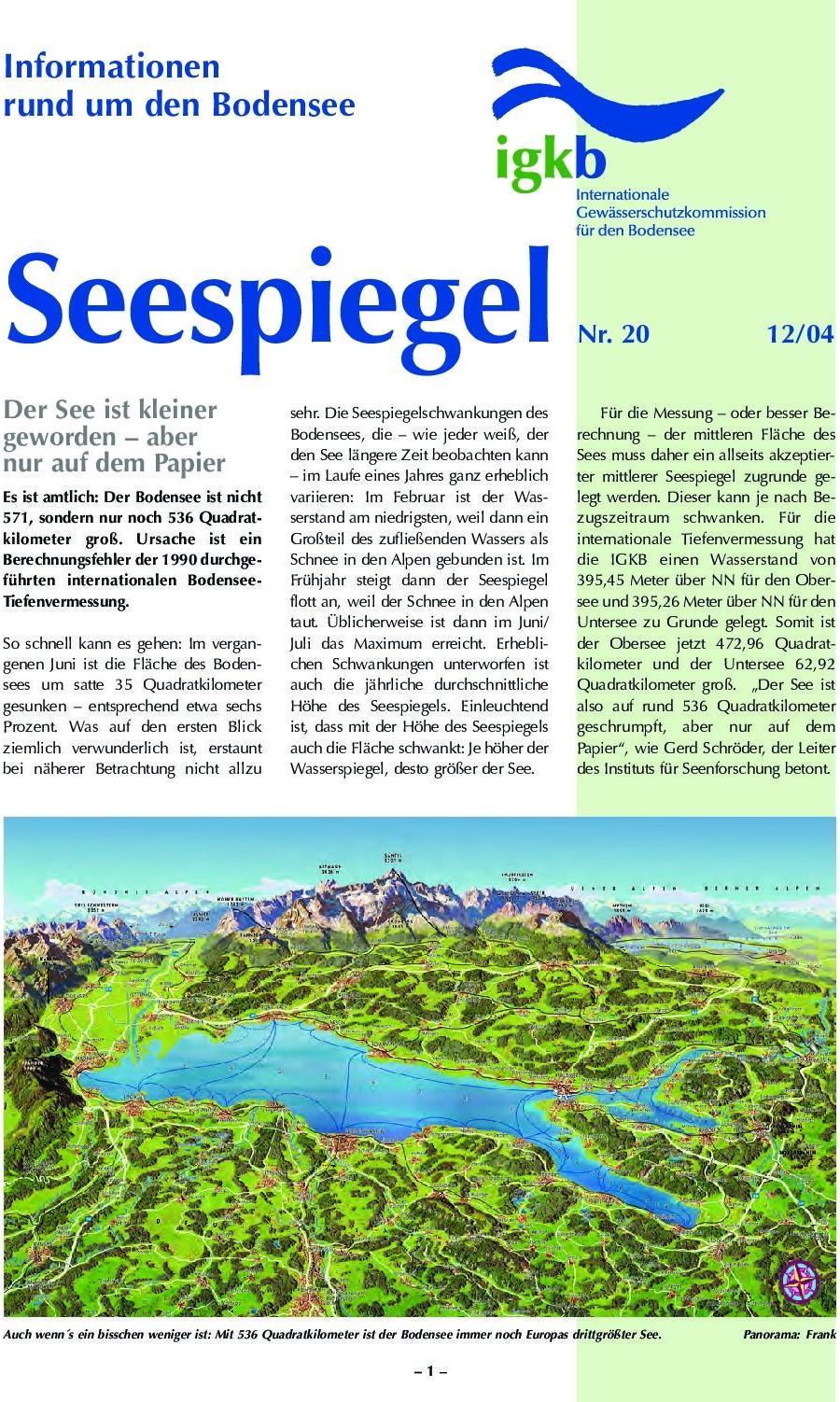 Ausgabe Nr. 20 - Dezember 2004