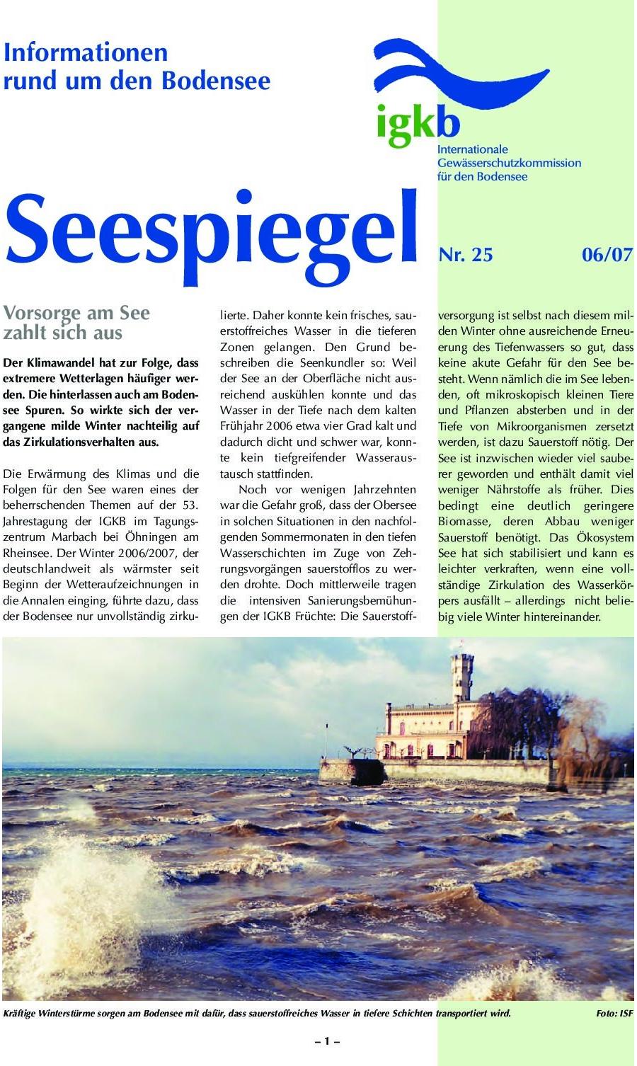 Ausgabe Nr. 25 - Juni 2007
