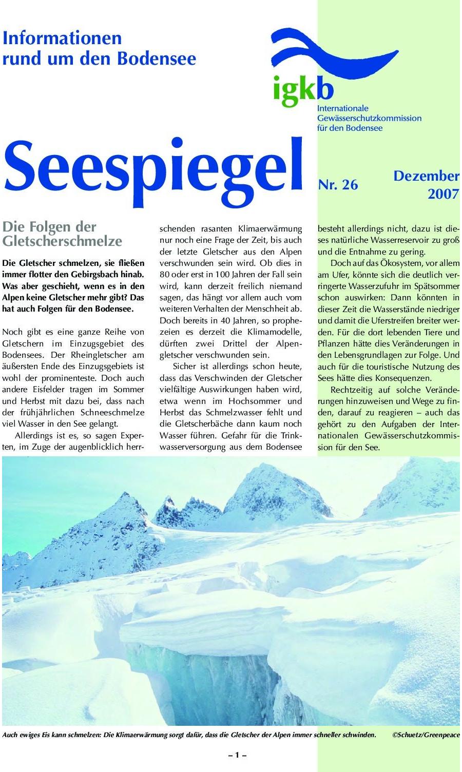 Ausgabe Nr. 26 - Dezember 2007