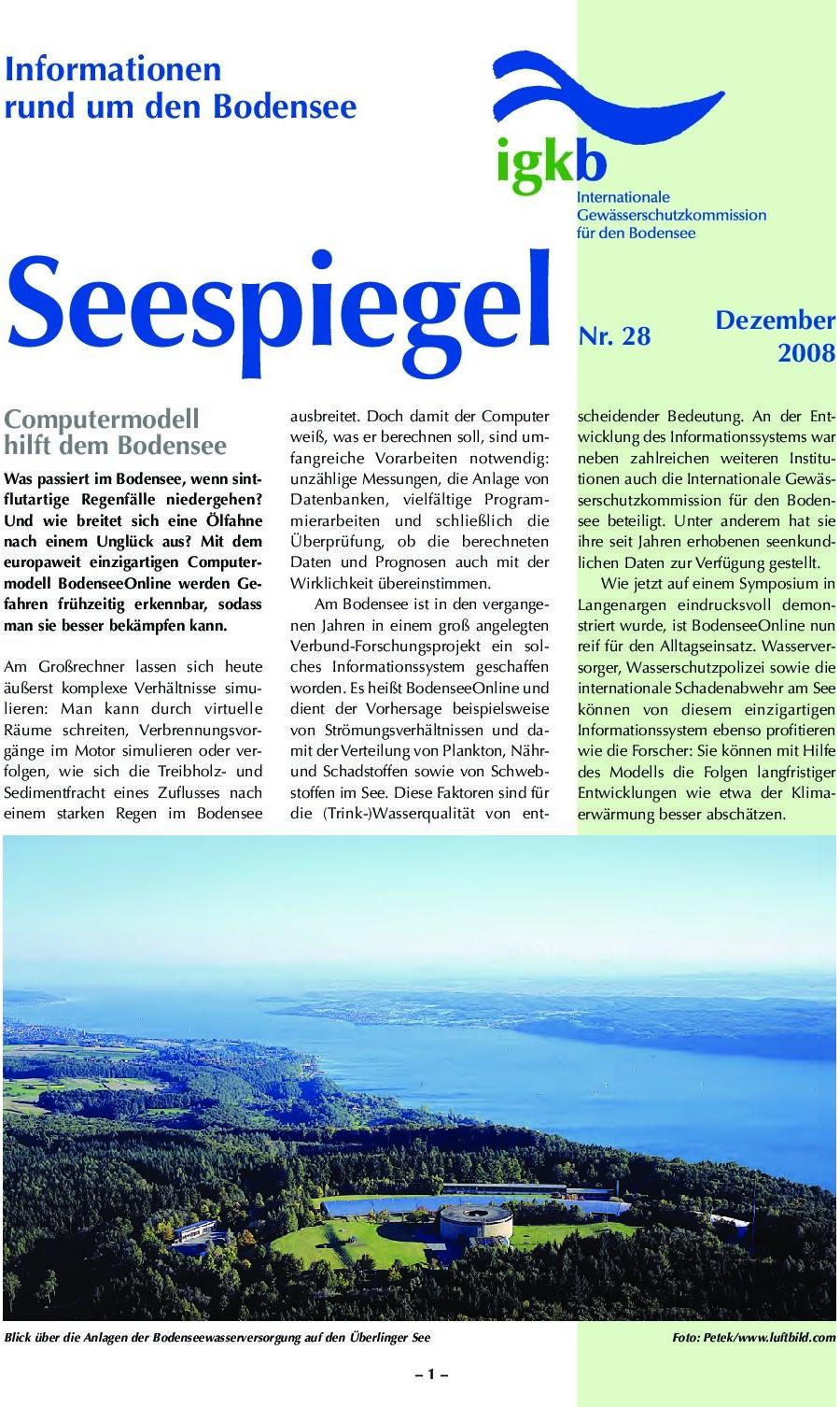 Ausgabe Nr. 28 - Dezember 2008