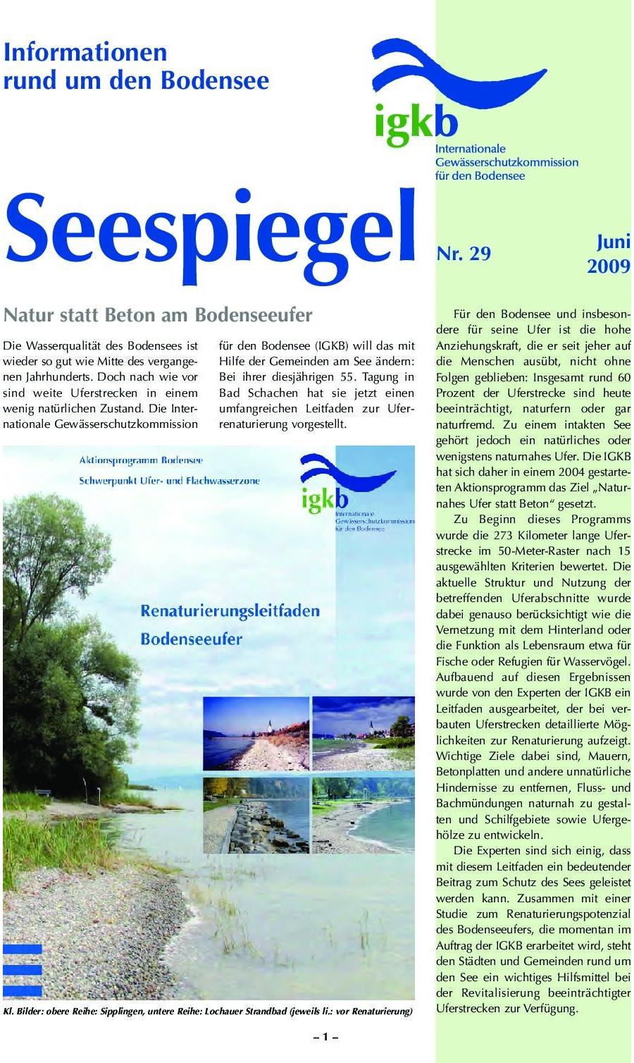 Ausgabe Nr. 29 - Juni 2009