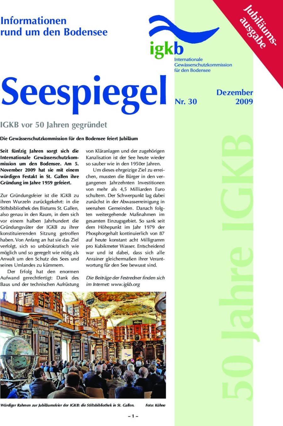 Ausgabe Nr. 30 - Dezember 2009