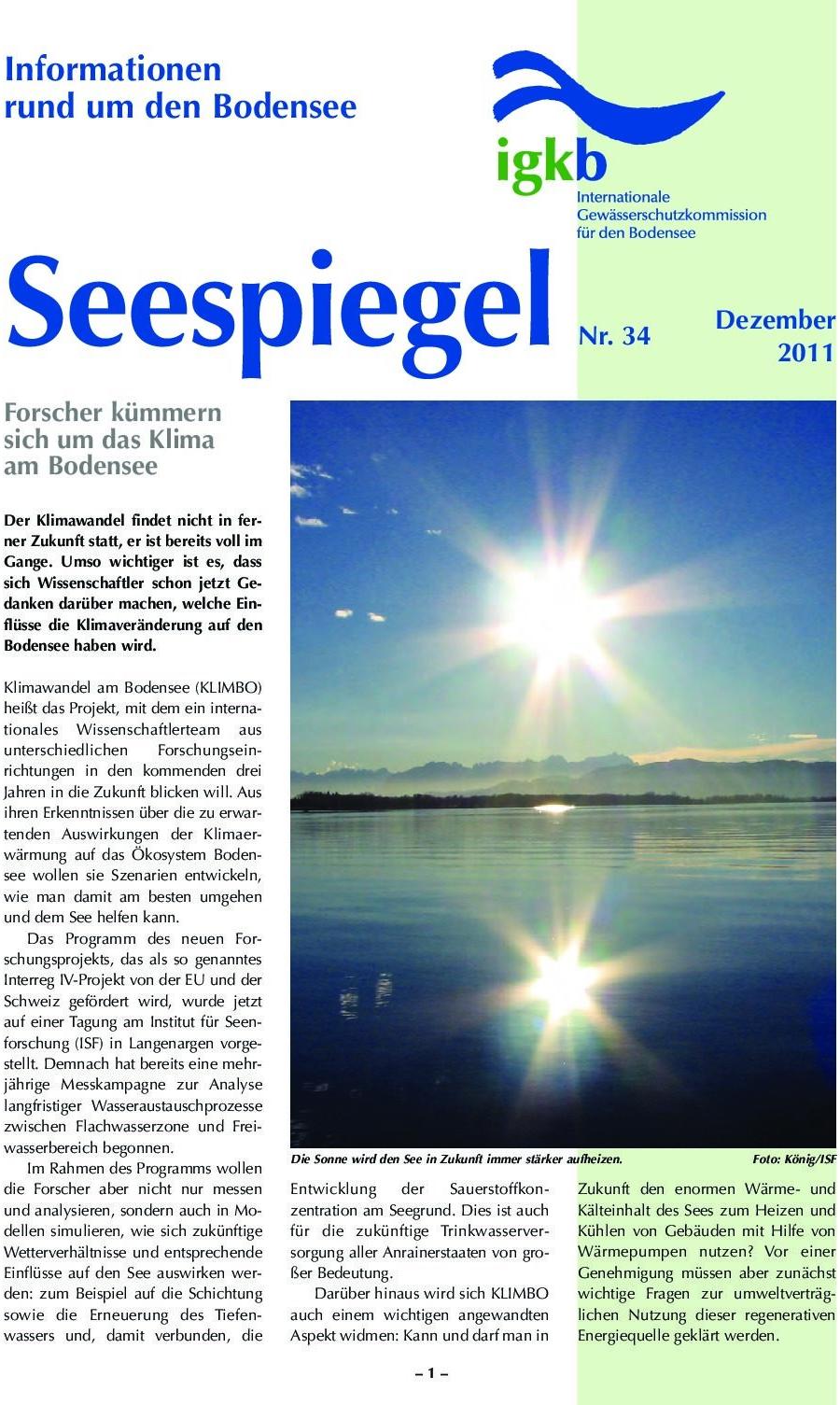 Ausgabe Nr. 34 - Dezember 2011