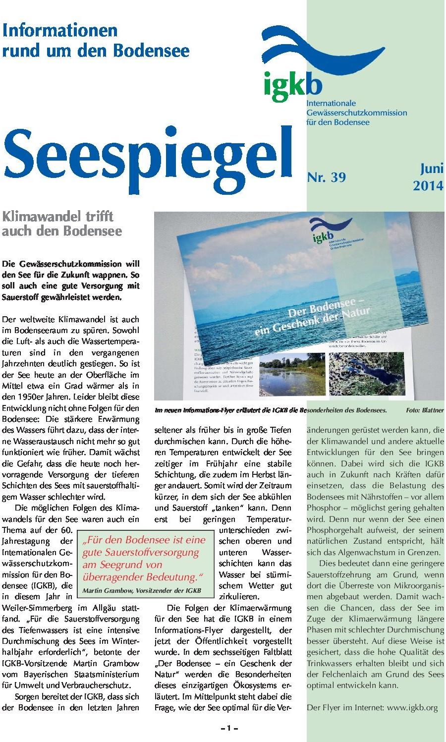 Ausgabe Nr. 39 - Juni 2014