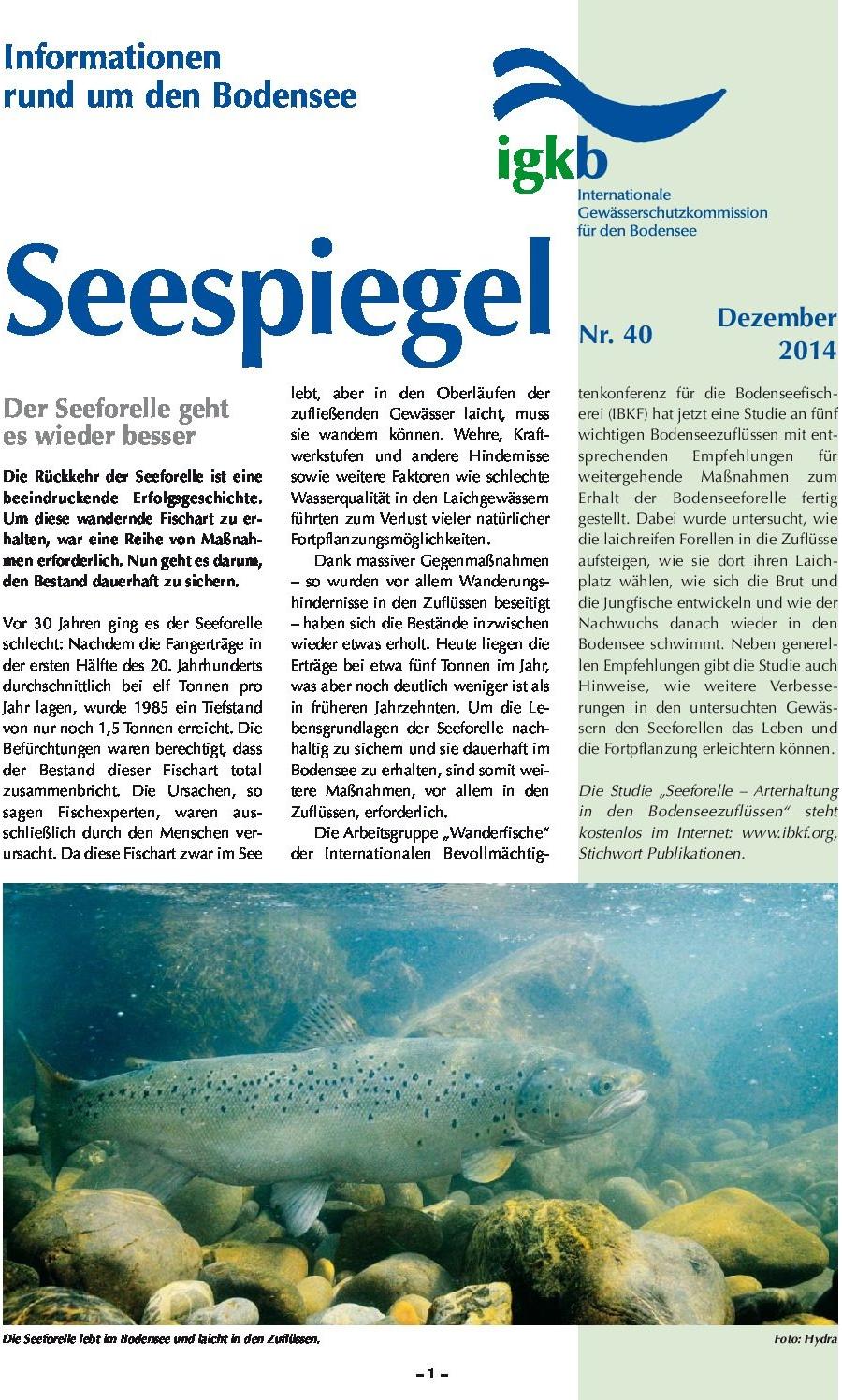 Ausgabe Nr. 40 - Dezember 2014
