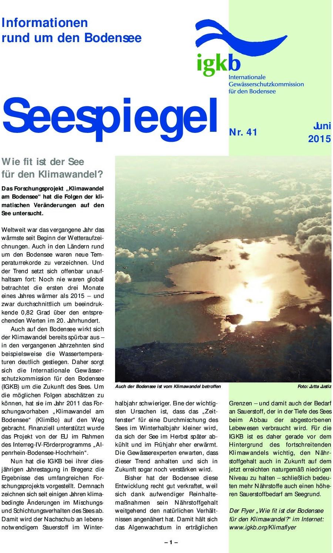 Ausgabe Nr. 41 - Juni 2015