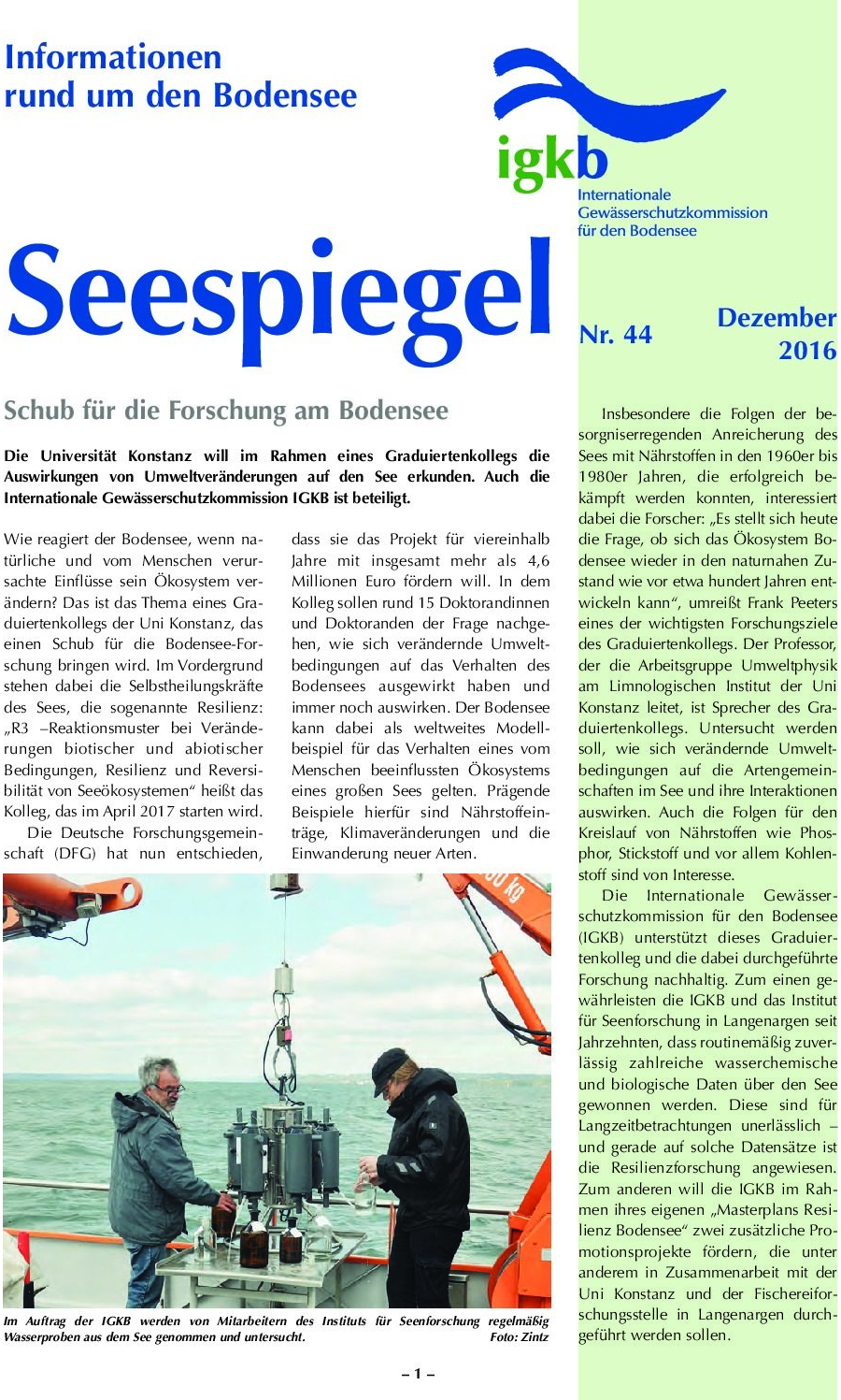 Ausgabe Nr. 44 - Dezember 2016